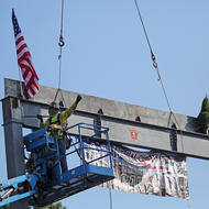 Firehouse beam raising